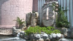 WorldClips-Mayan Mall Fountain Stock Footage