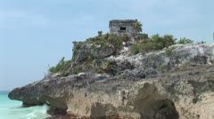 WorldClips-Mayan Ruins Tulum-zoom Stock Footage