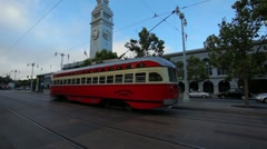 San Francisco Streetcar Speeding By HD Stock Footage