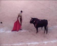 Bullfight1 Stock Footage