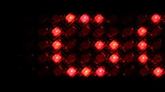 LED display with running line GOAL on black, loop Stock Footage