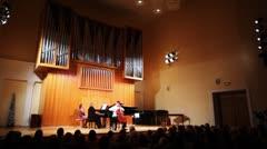 N.Hakhnazaryan plays Antonio Stradivari cello, G.Hakhnazaryan plays piano Stock Footage