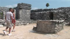 WorldClips-Tulum Ruins Passageway Stock Footage