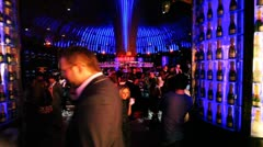 People in club Imperia Lounge in celebration - stock footage