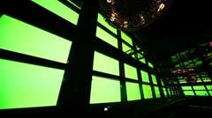Wall displays rhythmically flashing colored lights in corner nightclub Stock Footage