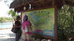 WorldClips-Xel-Ha Map-Visitors Stock Footage