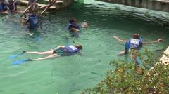 WorldClips-Xel-Ha Snorkelers Stock Footage