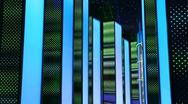 Nightclub interiors done in form glowing night city Stock Footage