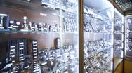Stock Video Footage of Showroom and shop windows with jewelry in salon Estet