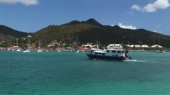 WorldClips-Marigot Ferry-pan Stock Footage