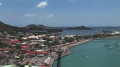 WorldClips-Marigot-xws-pan Stock Footage