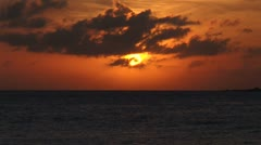 WorldClips-Simpson Bay Sunset-zoom Stock Footage