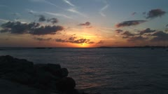 WorldClips-Simpson Bay Sunset Stock Footage
