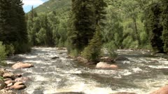 WorldClips-Arkansas River-zoom - stock footage