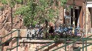 WorldClips-Beavercreek Cyclists-pan-zoom Stock Footage