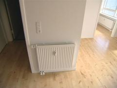 Heating control and accounting mechanisms in newly built flat. Stock Footage
