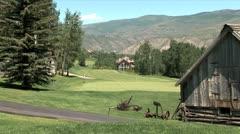 WorldClips-Beavercreek Golfers on Green-xws-zoom Stock Footage