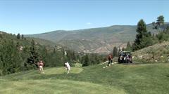 WorldClips-Beavercreek Golfers Tee Off-ws Stock Footage