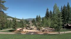 WorldClips-Beavercreek Park Playground-ws Stock Footage