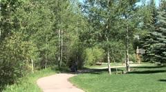 WorldClips-Beavercreek Park-Mom-Stroller Stock Footage