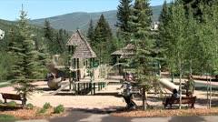 WorldClips-Beavercreek Playground Kids Stock Footage