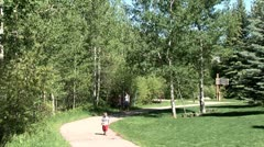 WorldClips-Beavercreek Walkway Kids-ws Stock Footage