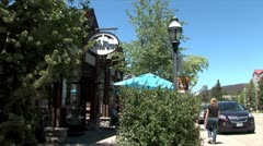 WorldClips-Breckenridge Cafe Street Stock Footage