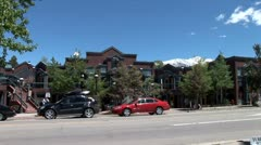 WorldClips-Breckenridge Mall Traffic-ws Stock Footage