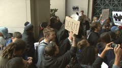 (HD version) Occupy vs. Sallie Mae Stock Footage