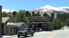 WorldClips-Breckenridge Mountain Road Stock Footage