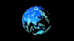 World currency earth Stock Footage