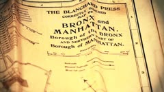 Exclusive New York Bronx and Manhattan Map from 1903 01 stylized Stock Footage