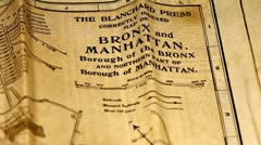Exclusive New York Bronx and Manhattan Map from 1903 09 Stock Footage
