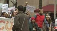 (HD version) Occupy Wall Street protest against student debt Stock Footage