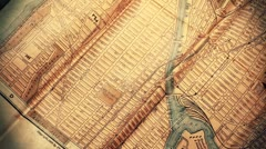 Exclusive New York Map from 1903 06 stylized Stock Footage
