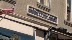 WorldClips-Central City Old Elks Lodge-zoom Stock Footage