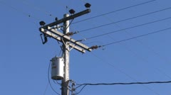 Power Lines 3 Stock Footage