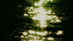 Black ocean sparkle Stock Footage