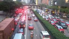 Hongkong Traffic Jam Stock Footage