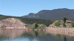 WorldClips-Dillon Lake Dam Traffic-ws-zoom - stock footage