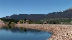 Stock Video Footage of WorldClips-Dillon Lake Dam-xws-pan