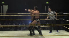 WWE & TNA wrestling superstar Daivari - match sequence 1 Stock Footage