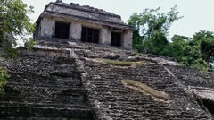 Temple of the Count in Palenque Stock Footage