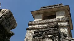 Tower of the Palace Palenque Stock Footage