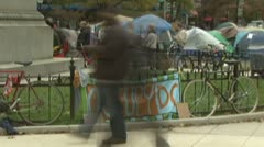 Timelapse of Occupy Wall Street in D.C. Stock Footage