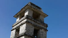Tower in the palace Palenque. - stock footage