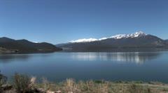 Stock Video Footage of WorldClips-Dillon Lake-Snowy Ridge-xws-zooms