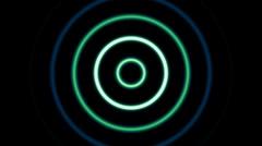 Dispersing circles - stock footage