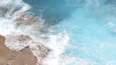 Waves and breakers at the ocean Stock Footage