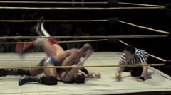 WWE & TNA wrestling superstar Daivari - Match sequence 3 Stock Footage